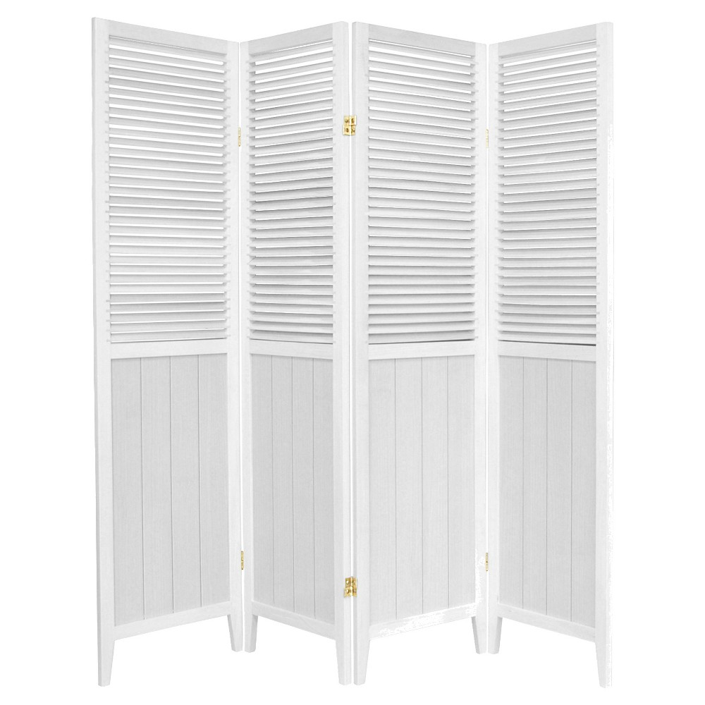 6 ft. Tall Beadboard Divider - White (4 Panels)