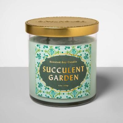 15.2oz Glass Jar 2-Wick Candle Succulent Garden - Opalhouse™