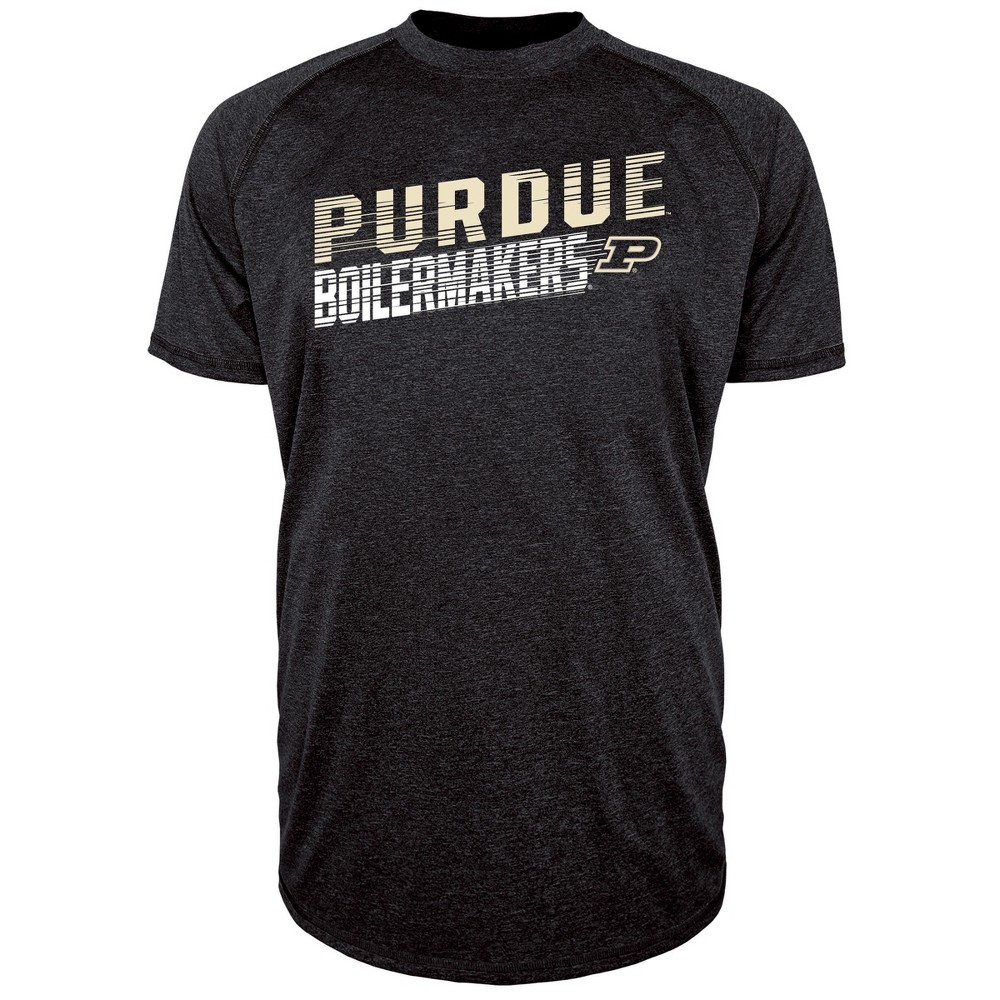 Purdue Boilermakers Men's Short Sleeve Raglan Performance T-Shirt - Xxl, Multicolored