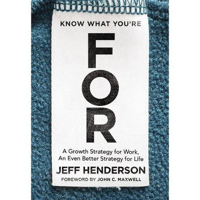 Know What You're for - by  Jeff Henderson (Hardcover)