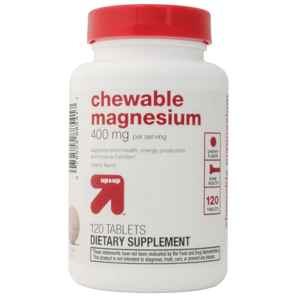 Chewable Magnesium Dietary Supplement Tablets Cherry 120ct Up 38 Up 8482