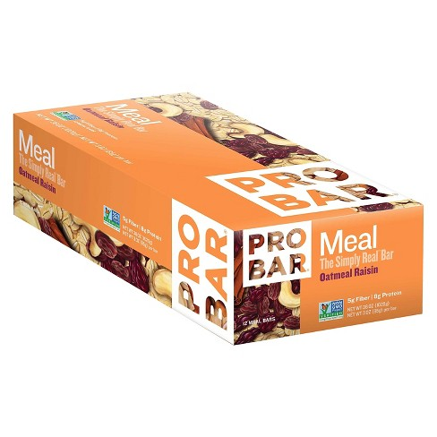 Probar Meal Oatmeal Raisin Nutrition Bar 12 ct - image 1 of 1