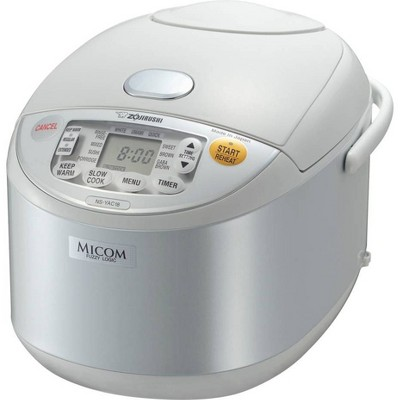 Zojirushi Umami Micom 10-Cup Rice Cooker & Warmer - Pearl White