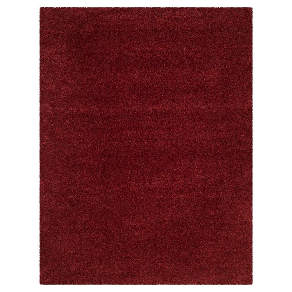 Maroon (Red) Solid Loomed Area Rug - (6'7