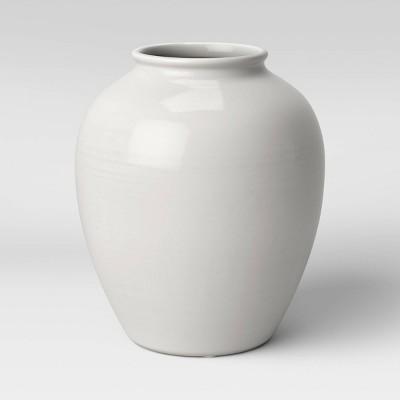 """11"""" x 10"""" Ceramic Vase Ivory - Threshold™"""