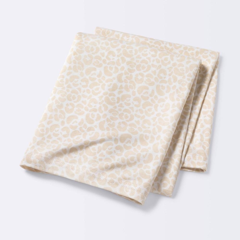 Jersey Swaddle Blanket Cloud Island 8482 Tan White Animal Print