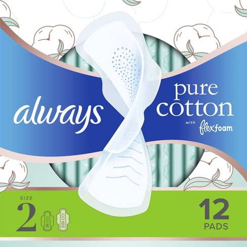 Always Pure Cotton with Wings Size 2 Heavy Unscented - 12ct - image 1 of 4