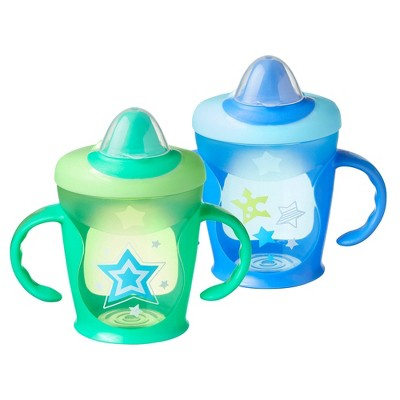 Tommee Tippee Hold Tight 2pk Trainer Sippy Cup - 7+ Months - Blue/Green - 9oz