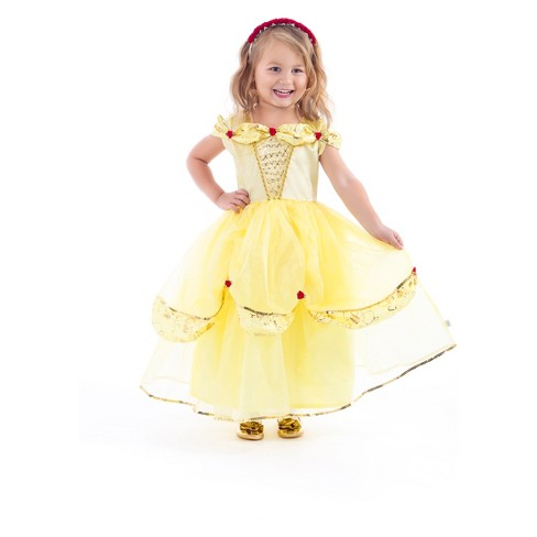 ff27639a5 Little Adventures Child's Deluxe Yellow Beauty And The Beast Dress ...