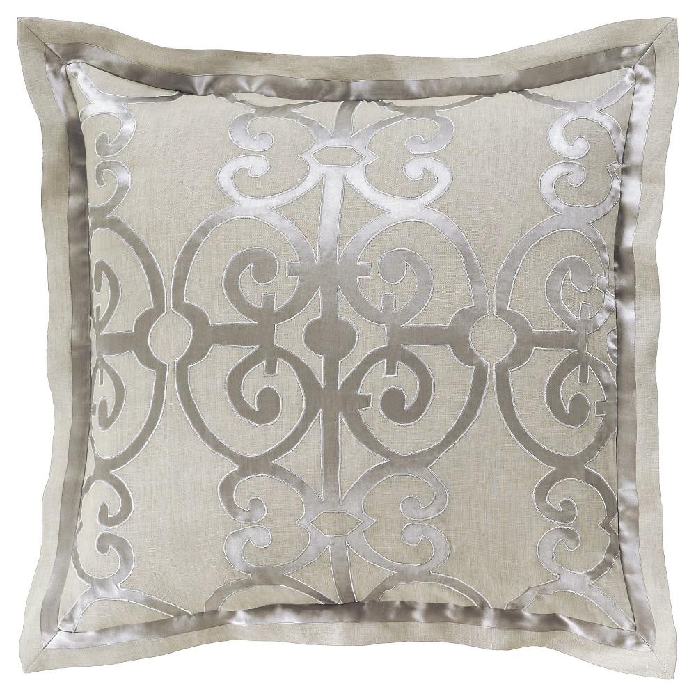 Oshawa Luxury Bedding Sham (Euro) Gray - Surya, Light Gray