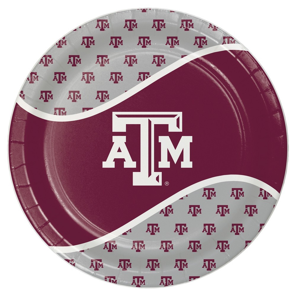 "Image of ""Texas A and M University 9"""" Paper Plates - 8ct"""
