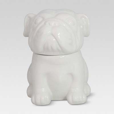 English Bulldog Ceramic Cookie Jar 65oz - White - Threshold™
