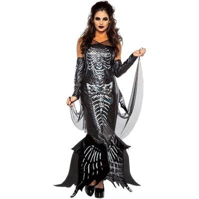 Dark Skeleton Mermaid Adult Costume