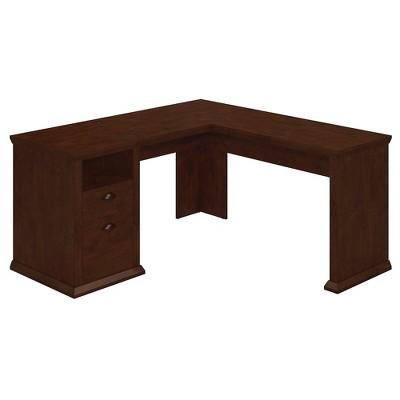 Bush Furniture Yorktown L Shaped Desk, Antique Cherry WC40330-03