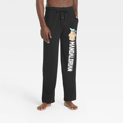 Men's Star Wars: The Mandalorian Lounge Pajama Pants - Black
