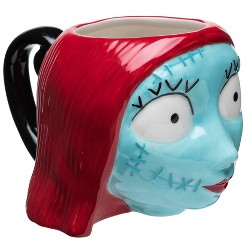 Zak Designs Disney Nightmare Before Christmas Sally 13oz Halloween Ceramic Sculpted Mug