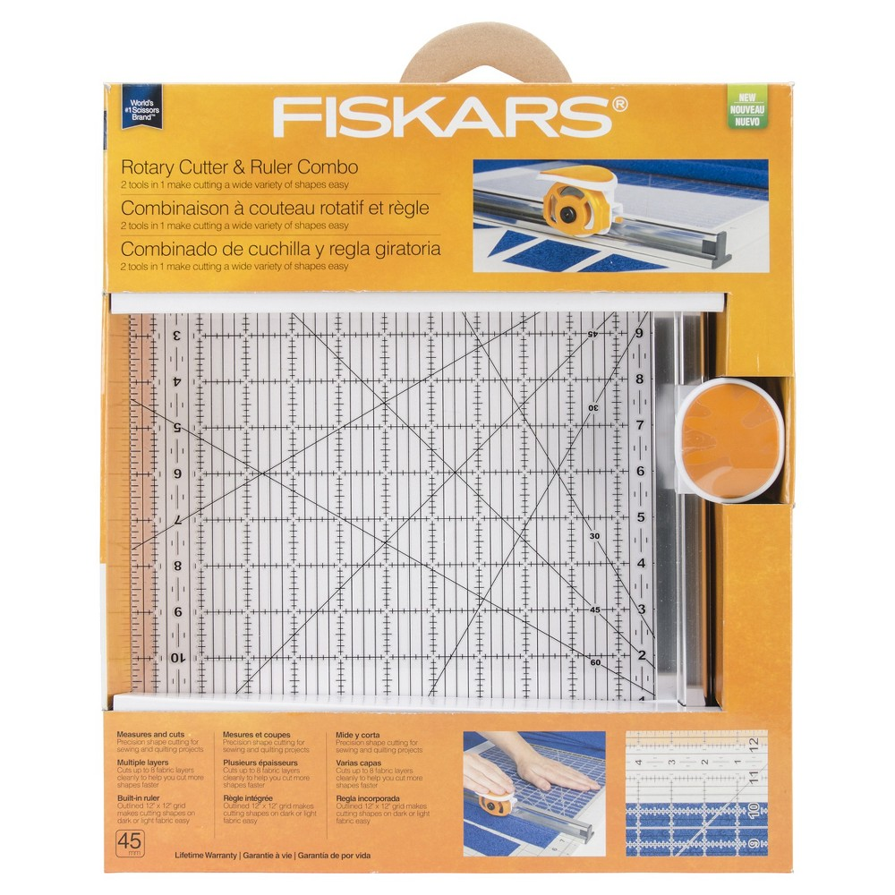 Rotary Ruler Combo For Fabric Cutting, Clear