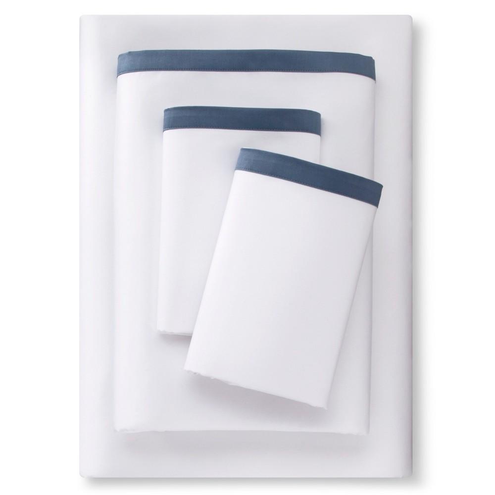 Banded Hem Supima Sheet Set (Full) Rig Blue - Fieldcrest
