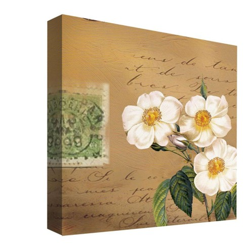 "White Petals II Decorative Canvas Wall Art 16""x16"" - PTM Images - image 1 of 1"
