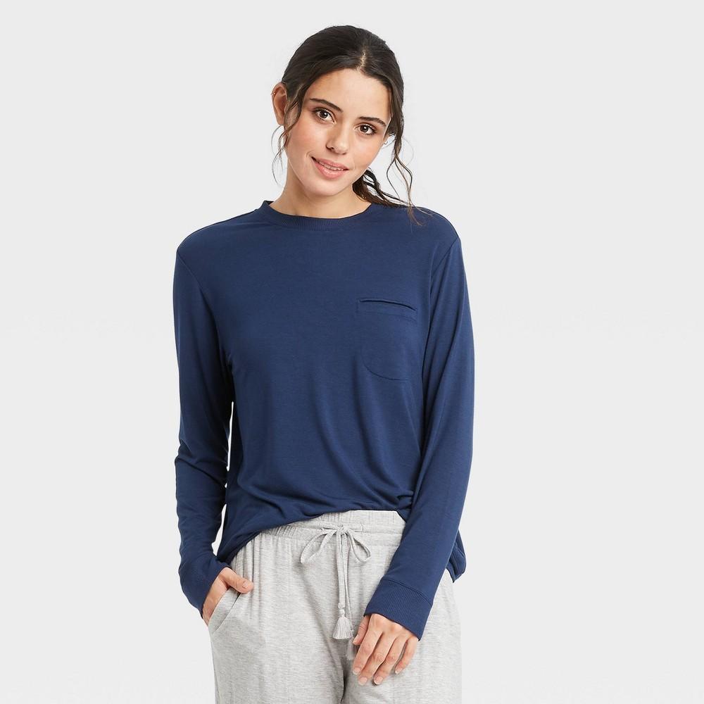 Women 39 S Beautifully Soft Long Sleeve T Shirt Stars Above 8482 Navy Xs