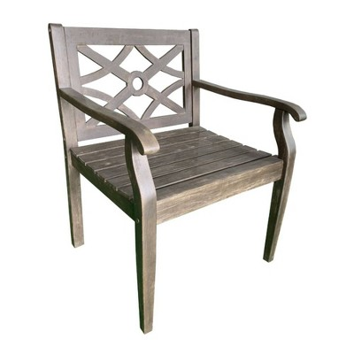 Crestview Wood Chair - Brown - Courtyard Casual