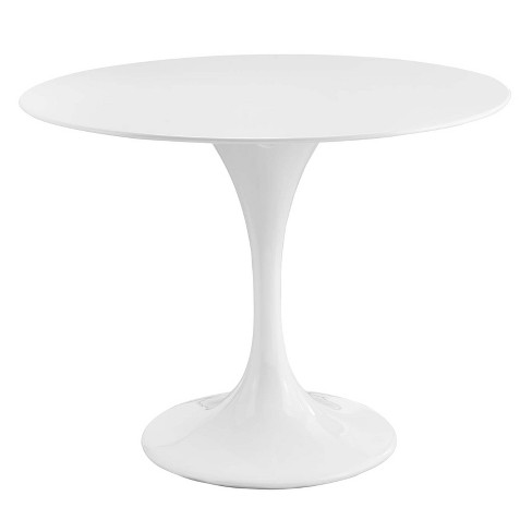 "Lippa 40"" Round Fiberglass Dining Table White - Modway - image 1 of 4"