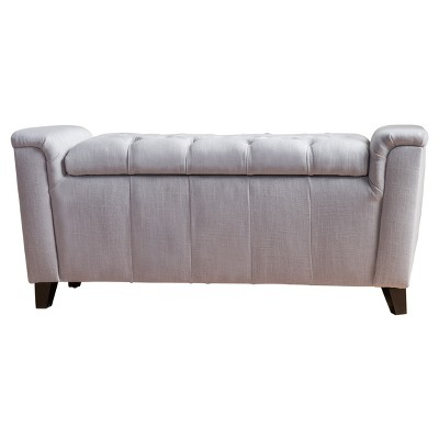 Argus Storage Bench - Light Gray - Christopher Knight Home