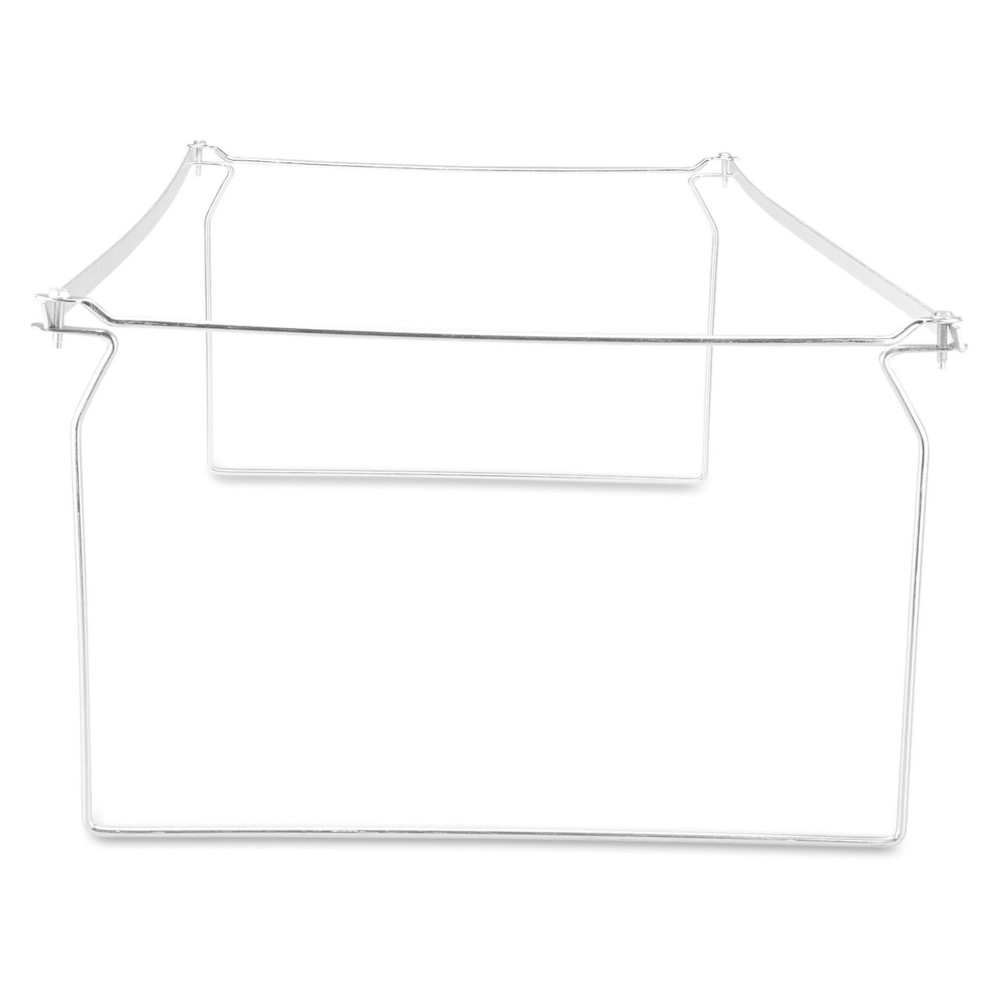 Universal Screw-Together Hanging Folder Frame, Legal Size, 23-26.77 Long, Silver