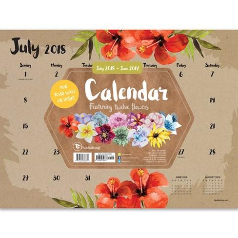 2018 2019 academic monthly desk calendar target