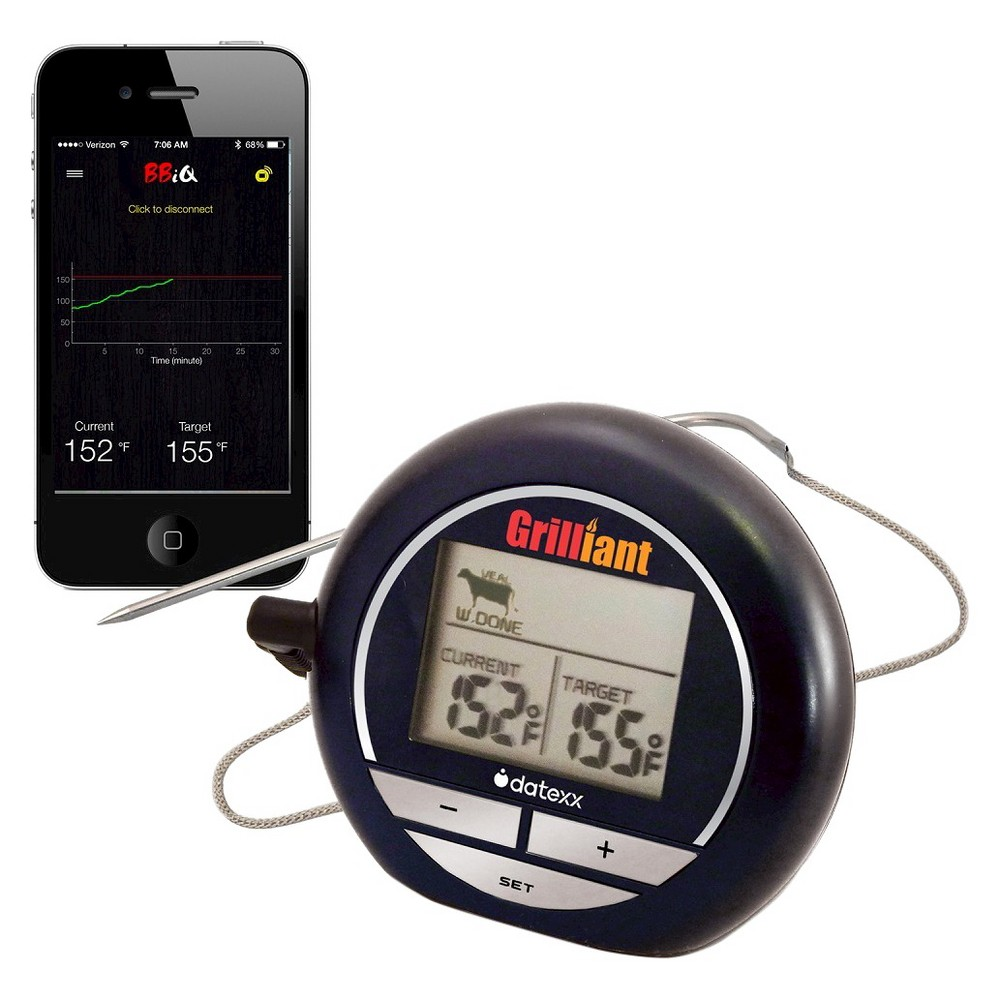 Image of Bluetooth Grillian Smart Cooking Thermometer, Black