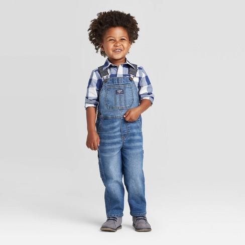 OshKosh B'gosh Toddler Boys' Denim Overall - Dark Blue 12M : Target