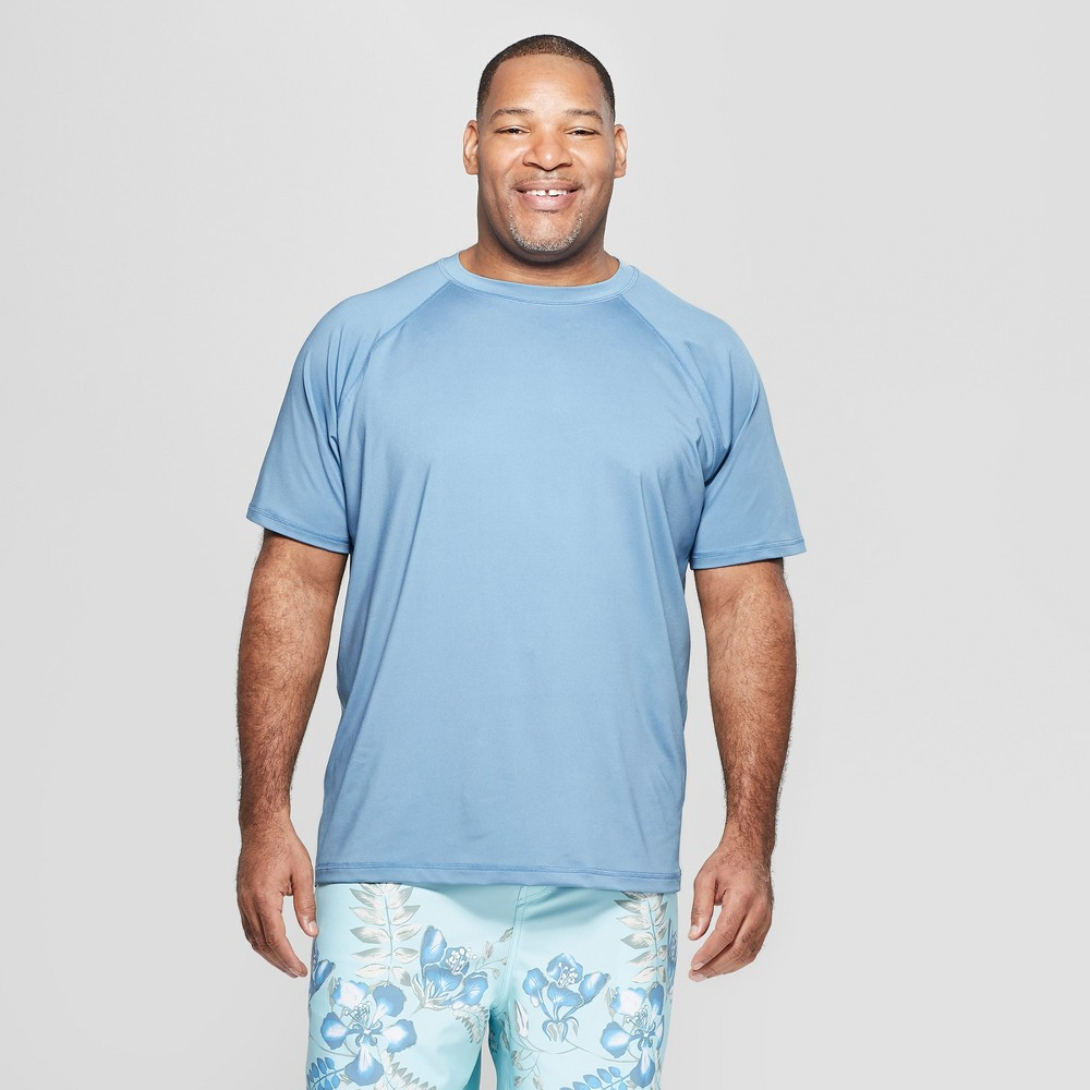 Men's Big & Tall Short Sleeve Rash Guard - Goodfellow & Co Blue 5XB