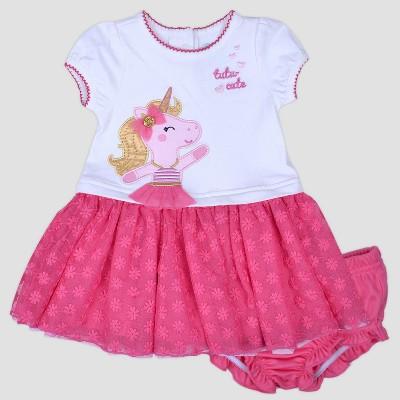 Baby Girls' Tutu Cute Unicorn Popover Dress Nate & Annee™ Pink 6-9M