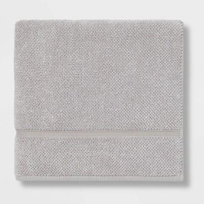 Performance Texture Bath Towel Light Gray - Threshold™