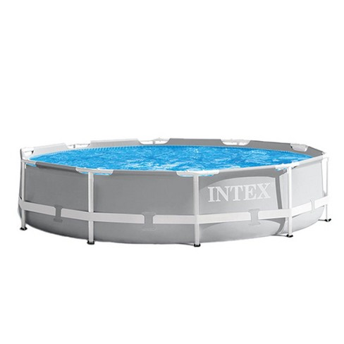 Intex 10 Foot x 30 Inches Prism Frame Above Ground Pool with 330 GPH ...