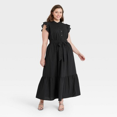 Women's Ruffle Short Sleeve A-Line Dress - Who What Wear™