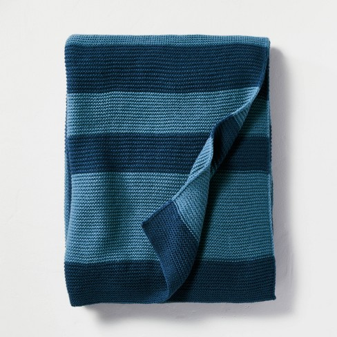 Color Block Stripe Throw Blanket - Hearth & Hand™ with Magnolia - image 1 of 3
