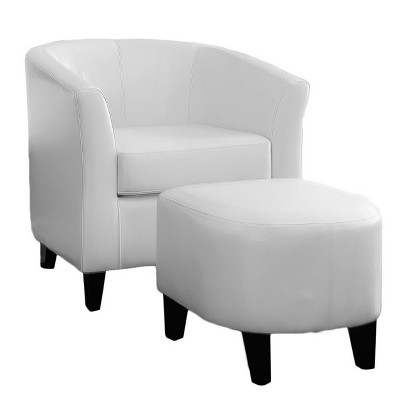Superieur Preston Club Chair U0026 Ottoman Ivory   Christopher Knight Home