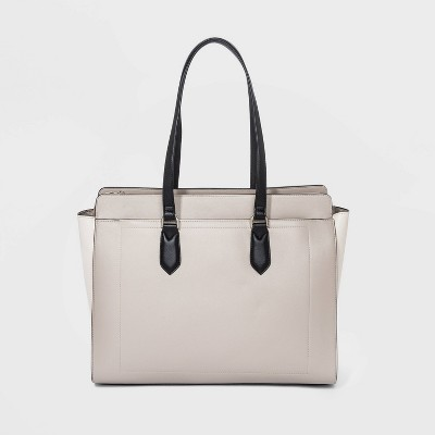 Zip Closure Tote Handbag - A New Day™ Gray