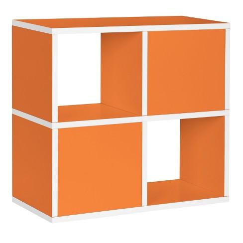 Under Desk Storage 4 Cubby Bookshelf Eco Friendly And Formaldehyde
