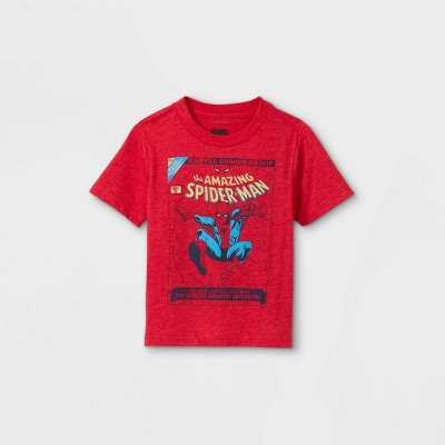 Toddler Boys' Spider-Man Short Sleeve Graphic T-Shirt - Red
