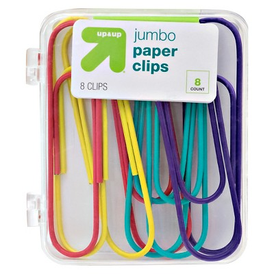 8ct Jumbo Paper Clips Brights - up & up™