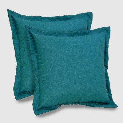 2pk Square Outdoor Pillows Turquoise - Threshold™