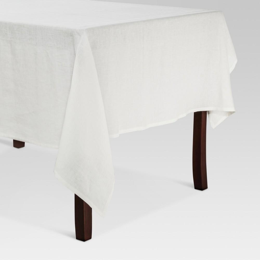 White Linen Kitchen Textiles Tablecloth (60