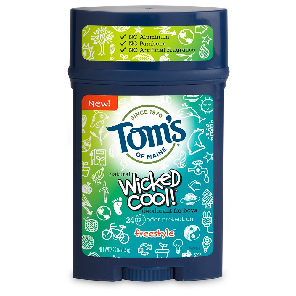 Tom's of Maine Wicked Cool! Freestyle Natural Deodorant Stick for Boys - 2.25oz