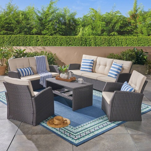 Sanger 5pc Wicker Chat Set - Christopher Knight Home - image 1 of 4