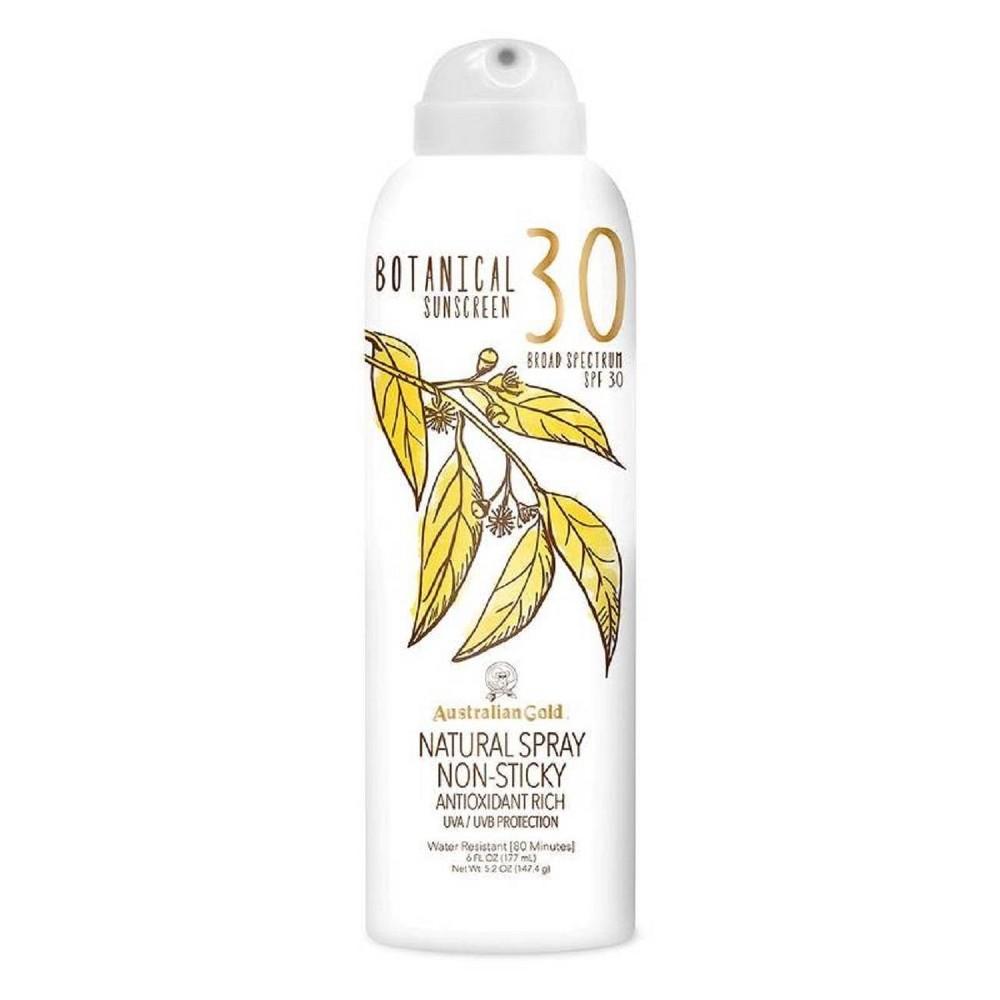 Image of Australian Gold Botanical Natural Sunscreen Continuous Spray - SPF30 - 6oz
