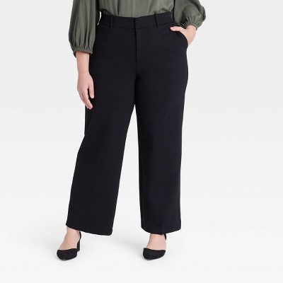 Women's Plus Size Wide Leg Ponte Pants - Ava & Viv™