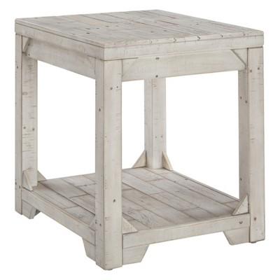 Fregine Rectangular End Table White - Signature Design by Ashley