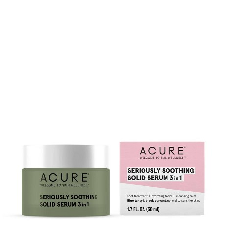 Acure 3-In-1 Seriously Soothing Solid Serum - 1.7 fl oz - image 1 of 4